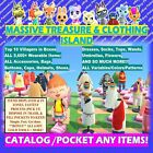 SALE! Animal Crossing ALL CLOTHING Treasure Island Catalog/Loot + Halloween :NH