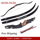 25-50lbs Archery Takedown Recurve Bow Longbow Right Hand Shooting Hunting