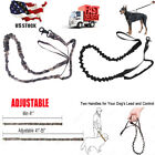 Nylon Retractable Rope Dog Leash Tactical K9 For Large Dog Heavy Duty Coupler QY