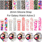 For Samsung Galaxy Watch Active 2 42 40 44mm Sport Silicone Band Printing Strap