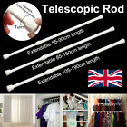 'Spring Loaded Extendable Telescopic Net Voile Tension Curtain Rail Pole Net Rods