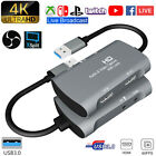 Usb3.0 Dual Hdmi Mic Video Capture Card 4k Game Zoom Audio/video Live Broadcast