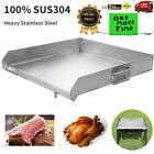 Flat Top Griddle Grill Heavy Stainless Steel for Home Single/Triple Burner Stove