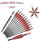 """16-22""""Carbon Arrows Crossbow Bolts + Broadheads Archery Outdoor Target Hunting"""