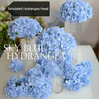 Artificial Hydrangea Bouquet Flower Silk Flowers W/ Free Stem Home Wedding Decor