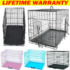Dog Cage Crates Puppy Pet Carrier Training Folding Metal Cage Small Medium Large