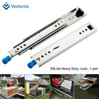 """VD2053 Heavy Duty Drawer Slides with Lock 12""""~40"""" Full Extension 1 Pair 256lb"""