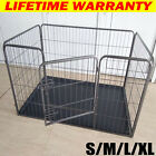 Folding Heavy Duty Puppy Playpen Enclosure Dog Cage Pet Run Crate Whelping Box
