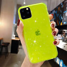 For iPhone 12 Pro Max 12 Pro 12/ Mini Slim Cute Case Glitter Sparkle Clear Cover
