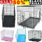 Dog Puppy Metal Training Cage Crate Black Carrier S M L XL XXL sizes Easipet NEW
