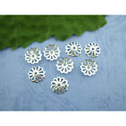 Silver Plated Bead Caps 9mm Filigree Flower Spacer Findings Jewellery Making