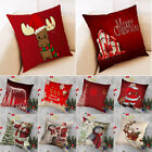 45X45cm Christmas Collection Cushion Cover Home Decor Throw Pillow Case Xmas UK