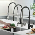 Stainless Steel Kitchen Sink Faucet Spring Single Handle with Pull Down Sprayer
