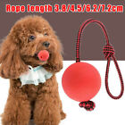Red Indestructible Dog Ball Toy With rope On a Rope For Pet Puppy High quality