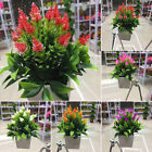Realistic Artificial Flowers Plant In Pot Home Office Decoration Gift Bara #au