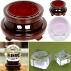 Clear/wooden Base Display Stand Holder For Crystal Ball Sphere Office Home Decor