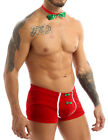 Men's Christmas Velvet Underwear Boxer Briefs Shorts Pouch Underpants Costume
