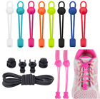 No Tie Shoelaces Elastic Lock Shoes Running Jogging Canvas Trainers Lazy Laces