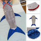 Soft 3D Shark Tail Fleece Sofa Beach Blanket Adults Kids Sleeping Bag Jaws
