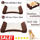 Orthopedic Large Soft Foam Dog Bed Pet Cuddler Couch Lounger Removable Cover