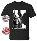By Any Means Necessary Malcolm X Soft T-Shirt New Black History Month S-6XL