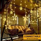 LED Fairy String Star Curtain Window Lights Wedding Home Party Night Light Decor
