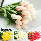 Artificial Tulip Flowers False Fake Bouquet Real Touch Home Wedding Decor