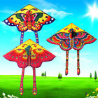 1Set 90 50cm butterfly printed long tail kite outdoor kite toy with handle l M