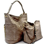 Handbag Republic Quilted Side Pocket Hobo w/Pull-out Crossbody