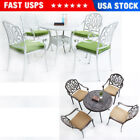 5pcs Outdoor Garden Patio Dining Set 1*table + 4*chairs Furniture W/ Cushions