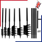 Earth Auger Ground Drill Bit with Handle Double/Three Spirals Fence Post Hole UK