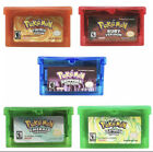 Pokemon Ruby, Sapphire, Emerald, Fire Red, Leaf Green - Repro GBA Game Cards USA