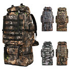 100L Large Camping Backpack Waterproof Hiking Military Camo Travel Tactical Bag