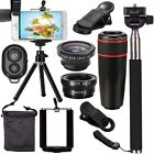 All in 1 Accessories Bundles Universal Mobile Phone Camera 8X Lens Travel Kit