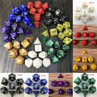 7pcs/Set TRPG Game Dungeons  Dragons Polyhedral D4-D20 Multi Sided Acrylic DiM