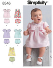 Simplicity Sewing Pattern Baby Babies' Infant Clothing Dresses Jumper Blanket