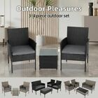 Garden Furniture Set Outdoor Table And Chairs Set Wicker Grey/black