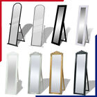 Mirror Floor Free Stand Full Length Bedroom Furniture Dress Make Up Mirror Home