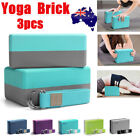 3PCS Yoga Block Brick Foaming Home Exercise Practice Fitness Gym Sport Tool