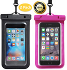 2 Pack Universal Waterproof Floating Cell Phone Pouch Dry Bag Cover For Phone