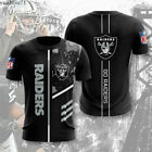 Las Vegas Raiders Football T-Shirts Short Sleeve Men Summer Casual Top Tee Gift