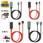 Universal 1080p HDMI HDTV AV Adapter Cable For iPhone Cell Phone  Tablets to TV