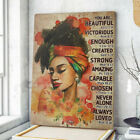 African Woman Portrait Poster, Beautiful Girl Poster, African Woman Gift