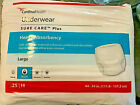 """Cardinal Health Disposable Underwear Heavy Absorbency Large 44-54"""" x 25 ct each"""