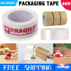 48mm X 66M Strong Long Sealing Tapes Clear / Brown / Fragile Packing Parcel Tape