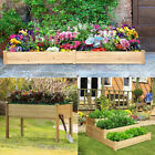 Solid Fir Wooden Plant Raised Bed Flower Vegetable Herb Grow Box Garden Planters