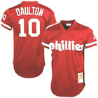 Darren Daulton # Philadelphia Phillies Men's M&N Red Cooperstown Jersey