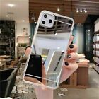 For iPhone 12 11 Pro Max XR X XS 8 Mirror Phone Case TPU Protective Back Cover