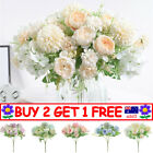 Silk Peony Artificial Fake Flowers Bunch Bouquet Home Wedding Party Decor A4 Au