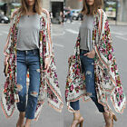 Damen Lange Maxi Vertuschen Bikini Cover Up Bademantel Kaftan BOHO Strickjacke